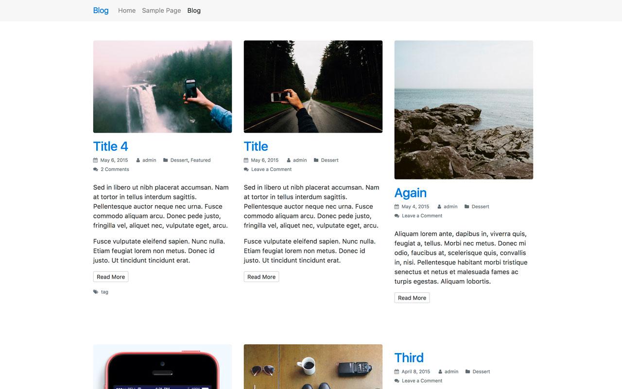 StrapPress Blog Grid