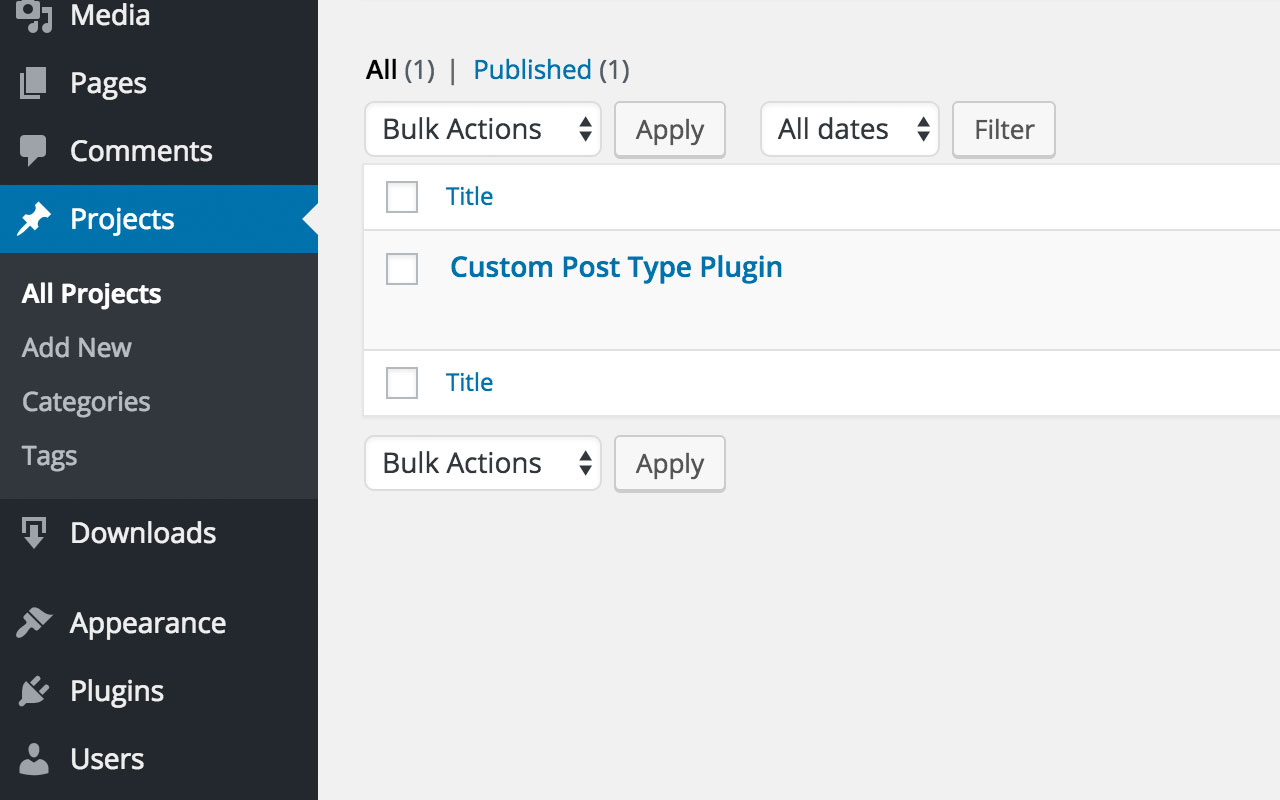 Custom Post Type Plugin