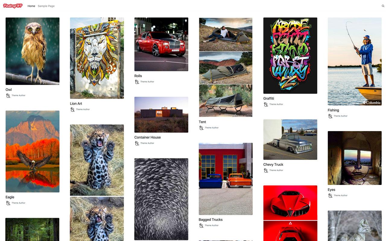 PinstrapWP: Pinterest WordPress Theme